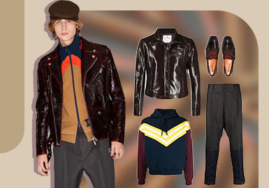 Fashionable & Cool -- The Clothing Collocation of Men's Leather